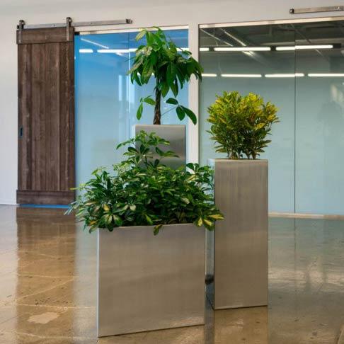 aluminum planters